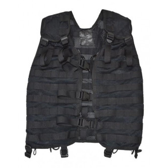 Тактическа жилетка от армията на Дания , цвят черен , система '' МОЛЛЕ''.