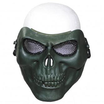 """Предпазен шлем , лицев , за еърсофт и пейнбол , модел """"skull"""", цвят ''олив''"""