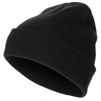 Шапка плетена акрил черна