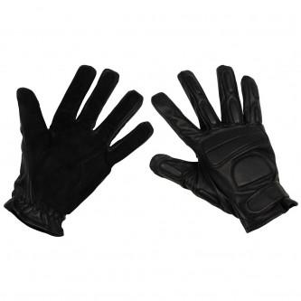 Ръкавици тактически , кожени с протектори за пръстите и китката