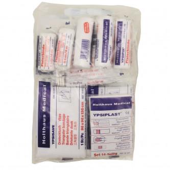 Комплект за първа медицинска помощ с 43 елемента    DIN 13164