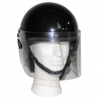 Английска полицейска каска със  защитен шлем , черна , ползвана