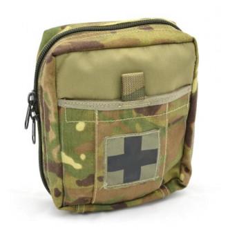 Чанта , тактическа за първа медицинска помощ , ''  MTP-CAMO'' , молле система  , ползвана .