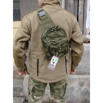 Чанта за ръчно носене и носене през рамо , система ''молле'' олив.