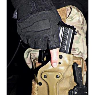 """Тактически ръкавици, """"Protect"""", без пръсти, черни."""