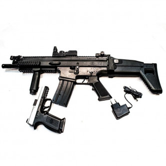 Еърсофт автомат + пистолет FN SCAR Kit - за начинаещи