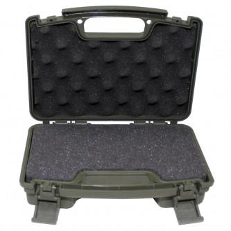 Калъф за пистолет, пластмасов, малък, заключващ се, OD зелен
