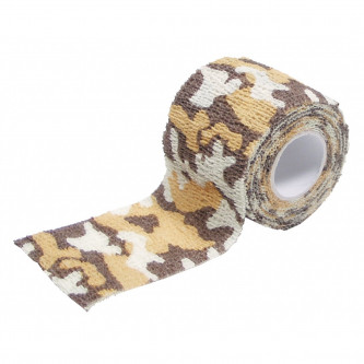 Камуфлажна еластична лента, самозалепваща се, ок. 5 см х 4,5 м, пустинен камуфлаж