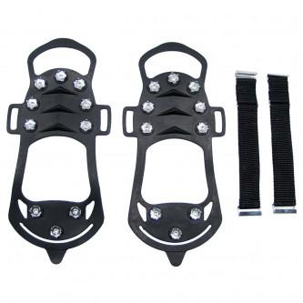 Ледоходки с шипове за обувки, черни, с 10 копчета