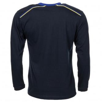 Блуза с дълъг ръкав , цвят тъмно син ,  100% памук