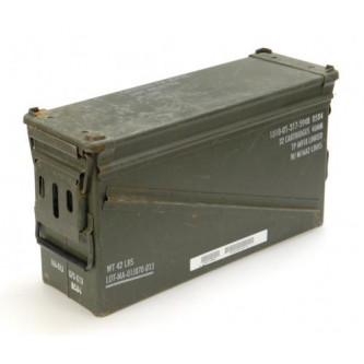 Кутия за муниции , метална , (SIZE 5) , ползвана , САЩ