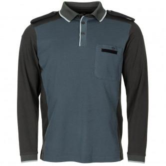 Блуза с дълъг ръкав , цвят синьо/сиво