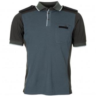 Блуза с  къс ръкав , цвят синьо/сиво  , Великобритания