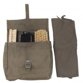 BW чанта за лъскане на обувки, зелена, използвана, с 3 четки