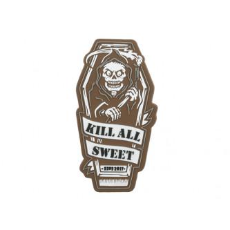Велкро пач  '' KILL ALL SWEET PVC PATCH - BROWN [EM] ''