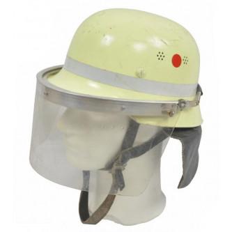 Каска пожарникарска с предпазен шлем от немската армия , ползвана