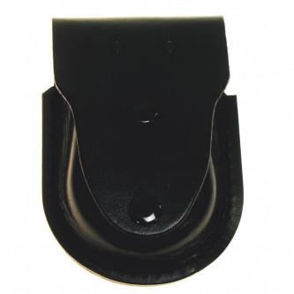 Калъф за белезници , кожен , черен , с пръстен за ключове .