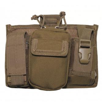 Тактическа чанта , с 5 броя джобове и система ''МОЛЛЕ'' , цвят койот