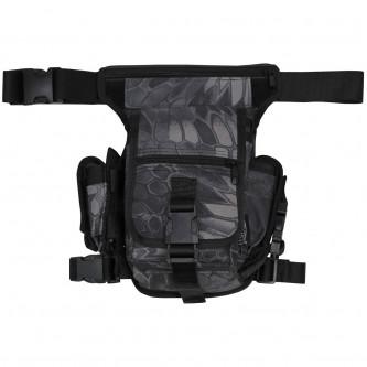 Чанта , тактическа , набедрена '' snake black'' модел ''Секюрити''