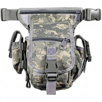 Чанта , тактическа , набедрена ''  AT-digital camo '' модел ''Секюрити''
