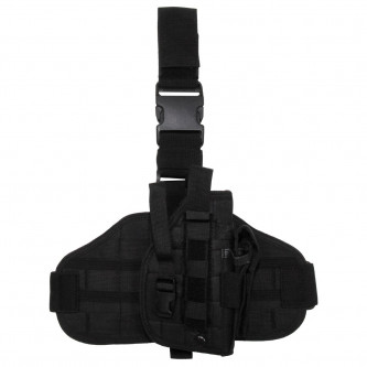 Кобур , набедрен , система ''молле''комбиниран , цвят черен.