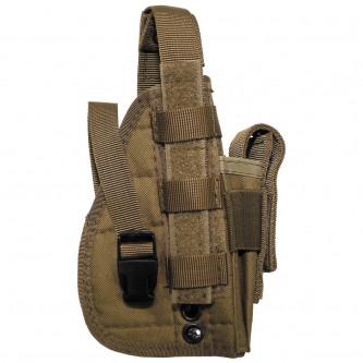 """Кобур , тактически , десен , за горен мотаж , система  """"Molle"""", 1 джоб за муниции , цвят ''  coyote ''"""