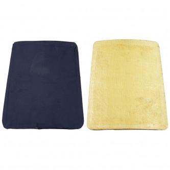 Предпазна плоча Kevlar за гърдите или гърба , Италия , ползвана ,  28 x 30 cm