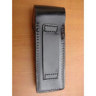 Калъф за муниции  от немската полиция , кожен , единичен , черен .