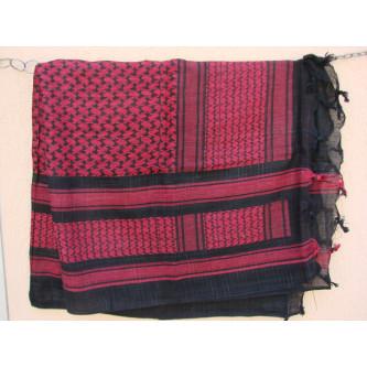Шал , ''Палестина'' , цвят , ЧЕРВЕНО-ЧЕРЕН , 100% памук .