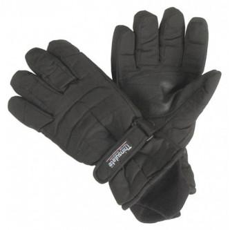 Ръкавици , полиестерни , водоустойчиви с подплата ''ТИНСУЛЕЙТ'' , цвят черен .