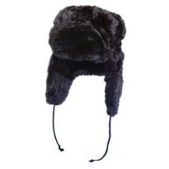 Ушанка руски стил , черна.