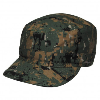 Шапка с козирка , модел , US BDU Field Cap, Rip Stop, digital woodland  , 100% памук.