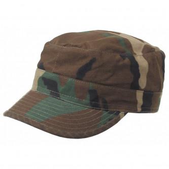 Шапка с козирка , модел , US BDU Field Cap, Rip Stop, woodland  , 100% памук.
