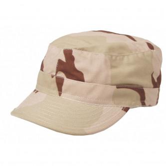 Камуфлажна  шапка с козирка , модел , US BDU Field Cap, Rip Stop,  3 col. desert , 100% памук.