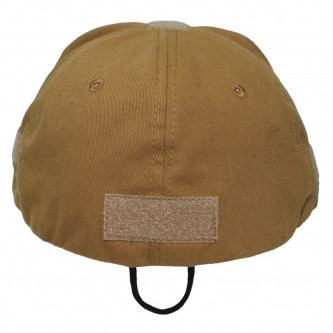 Шапка с козирка , модел  , Operations Cap, with velcro, one size fits all, coyote tan  , 100% памук .