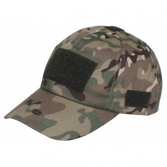 Шапка с козирка , модел  , Operations Cap, with velcro, one size fits all,  operation camo    , 65% памук , 35% полиестер.