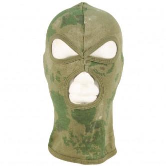 Маска за лице с  три отвора   цвят    HDT camo green  100 процента  памук