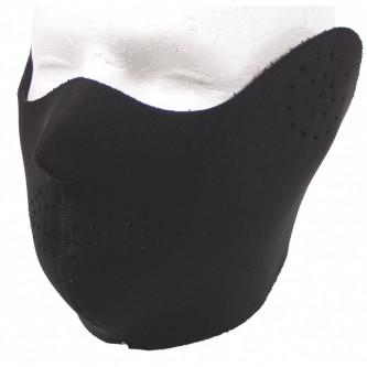 Полиестерна маска за лице , черна , ветро и водоустойчива .