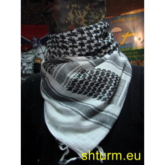 Шал , модел ''Палестина'' , черно - бял.