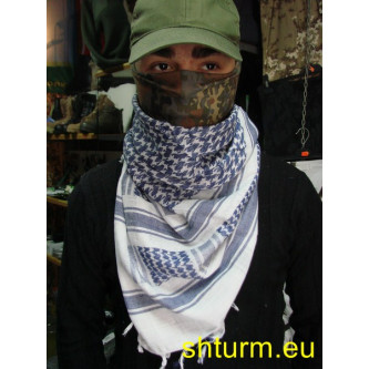 Шал , модел ''Палестина'' , бяло - син .