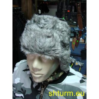 Ушанка руски стил , сива.