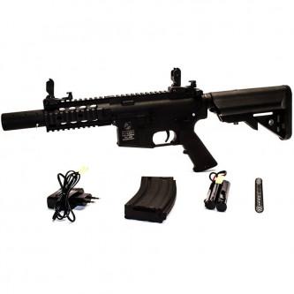 Еърсофт карабина Cybergun Colt M4 Special Forces Mini, полимерна, черна