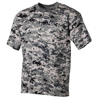 Тениска камуфлажна   дигитал-ърбън   100 процента памук