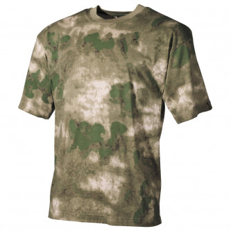 Тениска , камуфлажна , classic-style, HDT camo green, 170g/m²