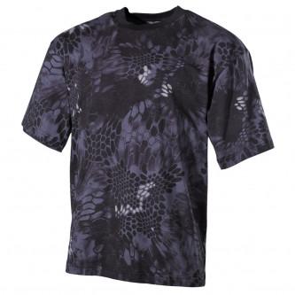 Тениска , камуфлажна , модел'' classic-style, snake black''.