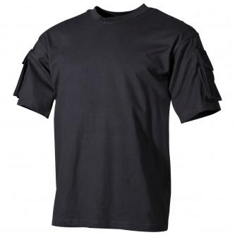 Тениска черна с велкро панели