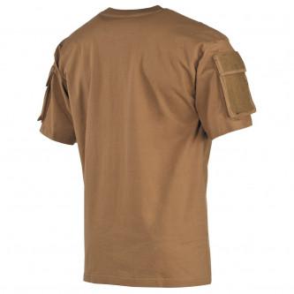 Тениска с велкро панели на ръкавите , цвят ''coyote tan''