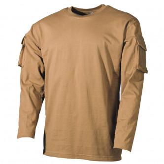 Блуза , тактическа , памучна , цвят ''КАКИ'' , дълъг ръкав .