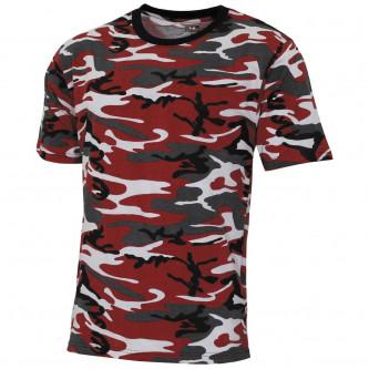 "Тениска  ""Streetstyle"", red-camo, 140-145 g/m²"