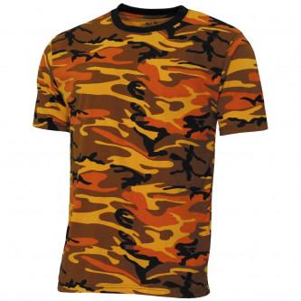 """Тениска , модел  """"Streetstyle"""", orange-camo"""
